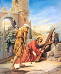Resultado de imagem para 3a queda de jesus cristo