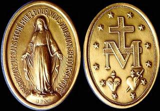 A medalha milagrosa de Nossa Senhora das Graças   Sacrifício Vivo e ... 97a63ebc10