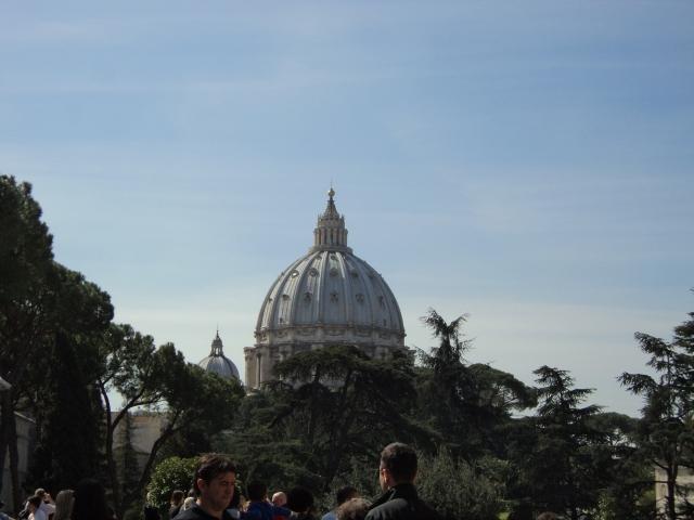 Vista da cúpula da Basílica de São Pedro, no Vaticano