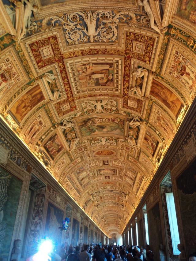 Uma das alas do Museu Vaticano